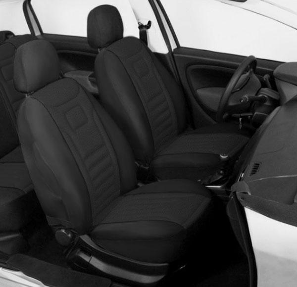 2 Black High Quality Front Car Seat Covers Protectors For Kia